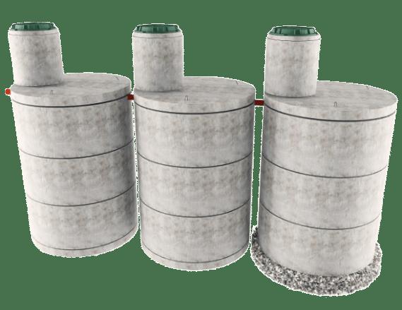 Трехкамерная конструкция септика в Хотьково